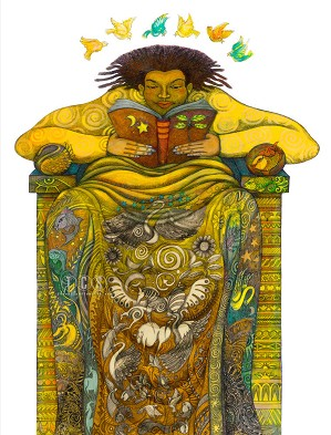 Charles Bibbs-The Reader II Giclee