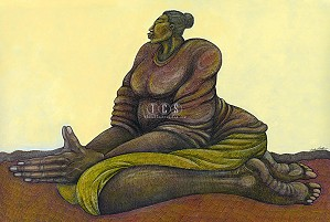 Charles Bibbs-Sunday Morning Prayer - Canvas