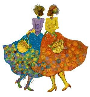 Charles Bibbs-Sunflower Girls Giclee