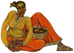 Charles Bibbs-Sweet Harvest Hand Embellished