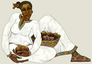 Charles Bibbs-Sweet Harvest Giclee White Edition