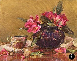 Jan Saia-Pink Rhododendrons