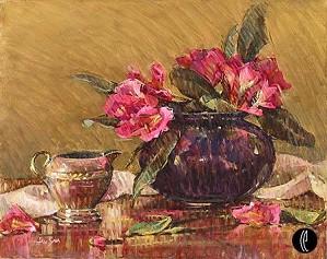 Jan Saia-Pink Rhododendrons