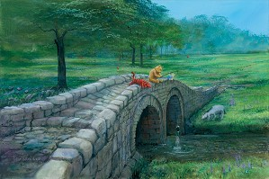 Peter Ellenshaw-Fishing With Friends Winnie The Pooh