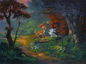 Michael Humphries-A Friendship Blossoms From The Movie Bambi