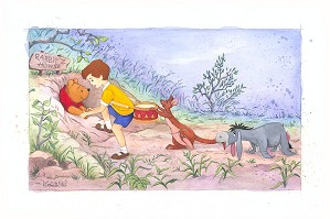 Michelle St Laurent-A Little Help From Friends From Disney Winnie The Pooh Custom Framed