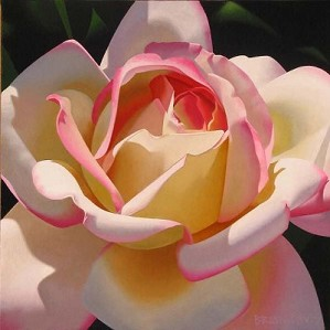 Brian Davis-Single Cherry Parfait Rose Giclee