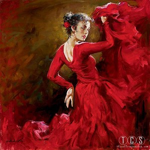 Andrew Atroshenko-Crimson Dancer