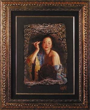 George Tsui-Painted Eyebrow Chiarograph on Paper