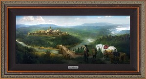 Disney Concepts-Gaston and Lefou's Arrival Framed