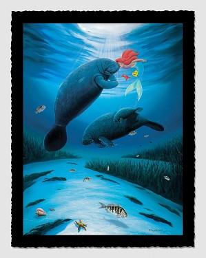 Wyland-Little Mermaid Love