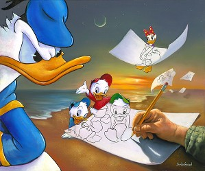 Jim Warren-Donald Duck Off the Page