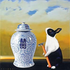 Robert Deyber-Bad Hare Day (Vase)