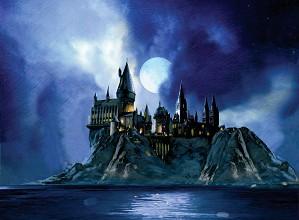 Jim Salvati-Full Moon at Hogwarts From Harry Potter