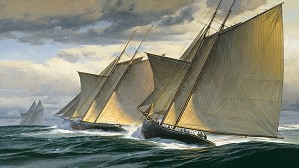 Don Demers-End of Day One - The Great Transatlantic Race 1866 MASTERWORK ON