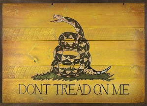 David Grant-Dont Tread On Me Barn Door OPEN EDITION