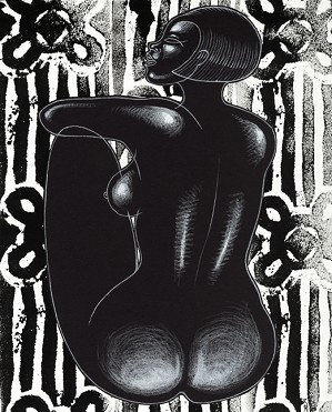 Larry Poncho Brown-Dark & Lovely   Giclee Re 12