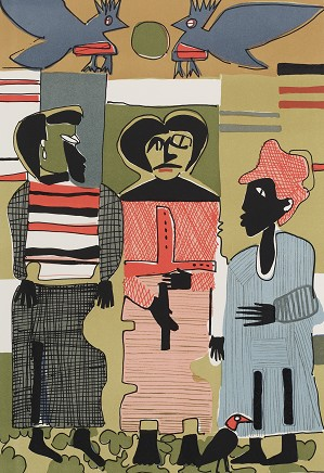 Romare Bearden-Firebirds