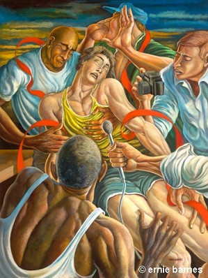 Ernie Barnes-The Competitive Spirit Signed And Numbered Artist Proof