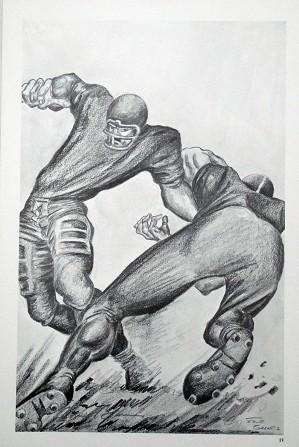 Ernie Barnes-The Handoff