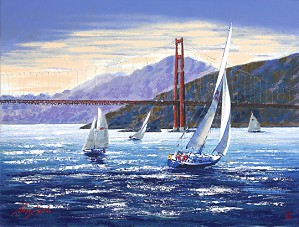 Kerry Hallam-Golden Gate Sunset (the Pacific Coast Suite)