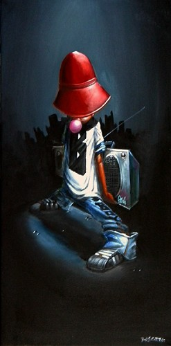 Frank Morrison-B-Boy Giclee On Canvas Remarque