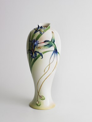 Franz Porcelain-Long Tail Hummingbird Collection Vase