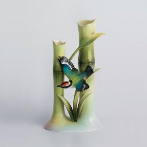Franz Porcelain-Bamboo Song Bird bud vase