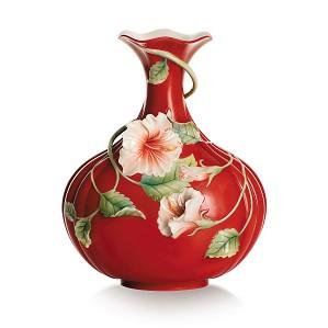 Franz Porcelain-Vase, Island Beauty hibiscus