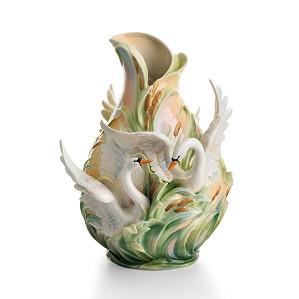 Franz Porcelain-Vase, Swan Lake