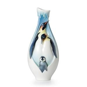 Franz Porcelain-Vase, Playful Penguins