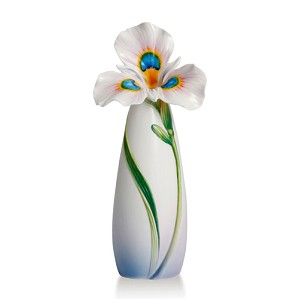 Franz Porcelain-Peacock Iris Collection Vase