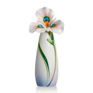 Franz Porcelain-Peacock Iris Collection Vase