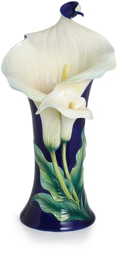 Franz Porcelain-Calla Lily Flower Large Porcelain Vase Limited Edition