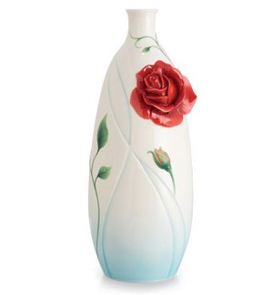 Franz Porcelain-Vase, Romance of the Rose