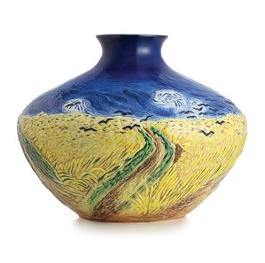 Franz Porcelain-Van Gogh Wheatfield with Crows