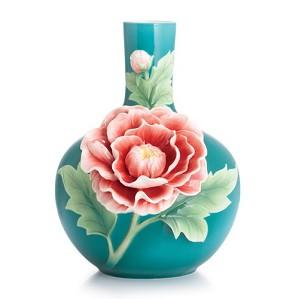 Franz Porcelain-Peony Mid Size Vase