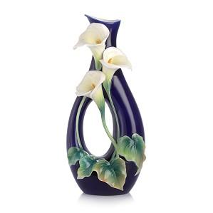 Franz Porcelain-Forever Love calla lily vase
