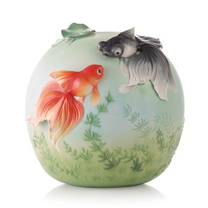 Franz Porcelain-Vase, Goldfish