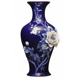Franz Porcelain-Vase, Peony & Plum Blossom