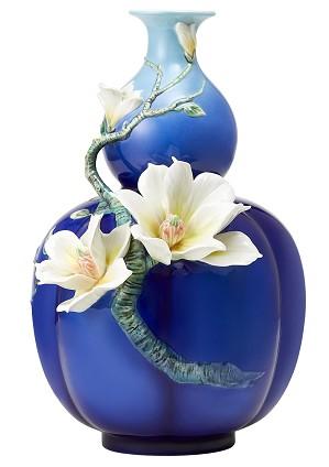 Franz Porcelain-Vase, Yulan Magnolia