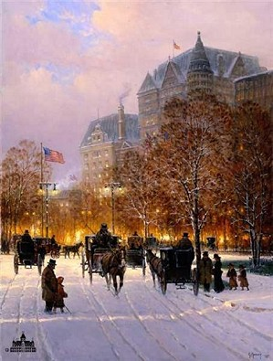 G Harvey-A Stroll on the Plaza Artist Proof