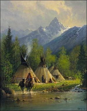 G Harvey-CAMP IN THE TETONS