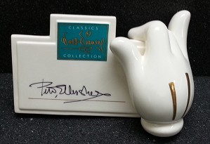 WDCC Disney Classics-Mickey's Glove Signature Plaque Signed By Peter Ellenshaw