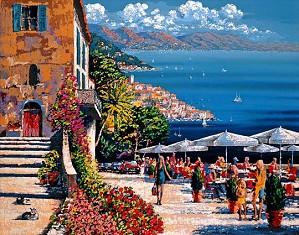 Kerry Hallam-Cafe De La Ramparts Canvas