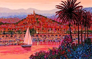 Kerry Hallam-Riviera Twilight Canvas