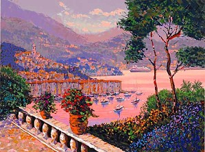 Kerry Hallam-Portofino Evening Enhanced Serigraph