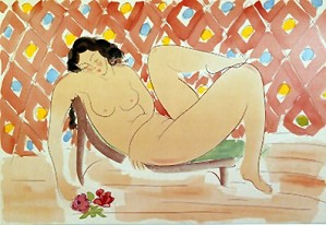 Muramasa_Kudo-Reclining With Roses
