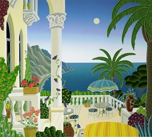 Thomas McKnight-Ravello Balcony Paper With Remarque