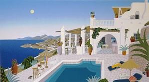 Thomas McKnight-Sunset Hill-Mykonos Deluxe On Canvas